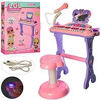 Детский синтезатор Lol с микрофоном