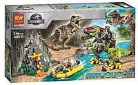 Конструктор Бой тираннозавра и робота-динозавра, Lari арт.11337, аналог Лего Юрский период 75938