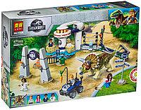 Конструктор LARI Dinosaur World Нападение трицератопса арт.11336 (Аналог LEGO Jurassic World 75937)