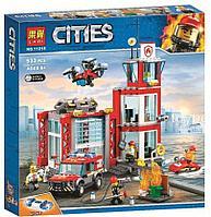 Конструктор Пожарное депо, LARI арт.11215 аналог LEGO City 60215