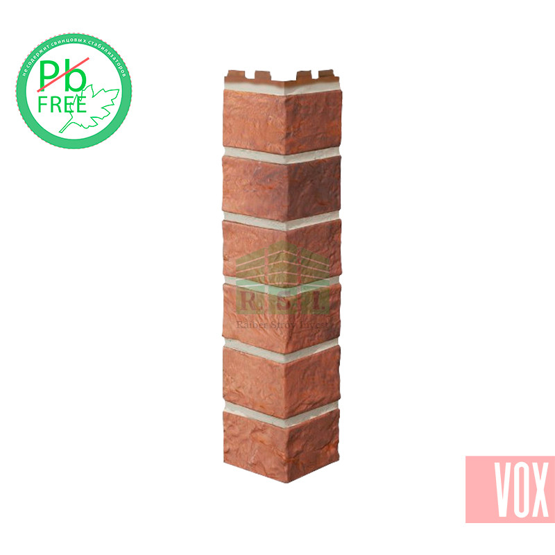 Наружный угол VOX Solid Brick Bristol (красный кирпич)