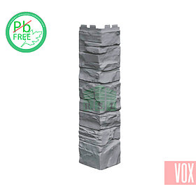 Наружный угол VOX Solid Stone Toscana (серый камень)