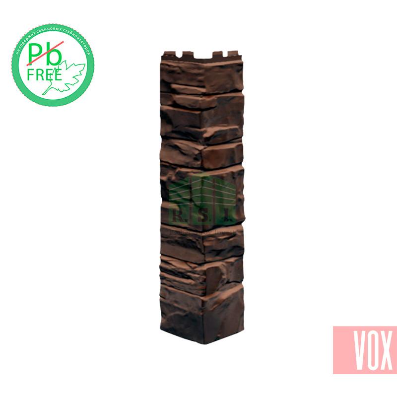 Наружный угол VOX Solid Stone Sicily (темно-коричневый камень)