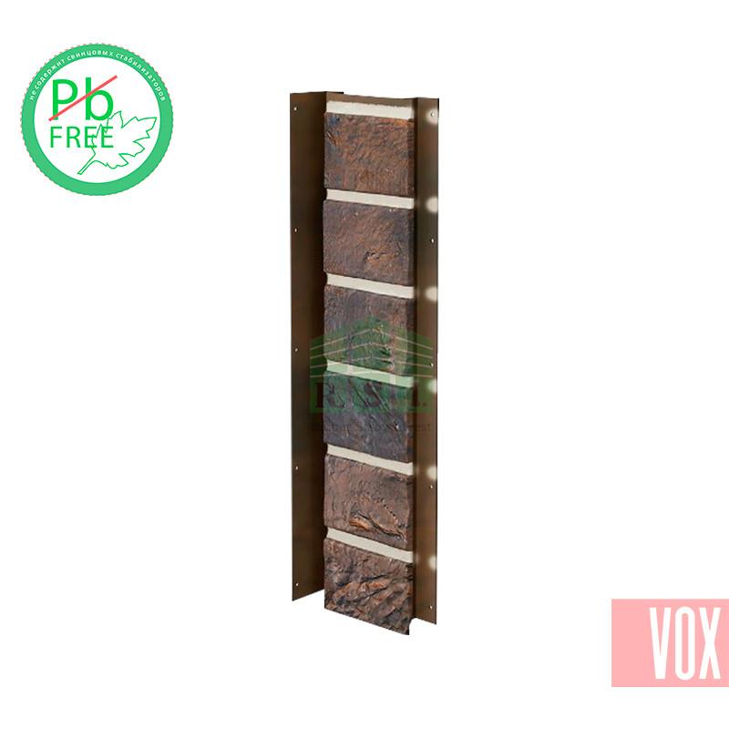 Внутренний угол (универсальная планка) VOX Solid Brick York (коричневый кирпич)