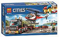 Конструктор BELA Cities Перевозчик вертолета арт.10872 (Аналог LEGO City 60183)
