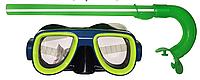 Очки- маска + трубка для подводного плавания (черн.нос)