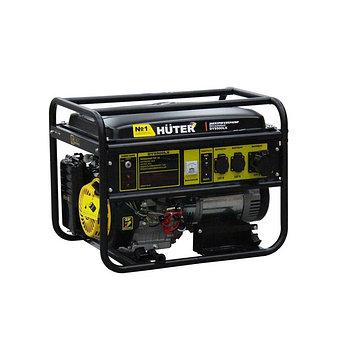 Генератор Huter DY9500LX, бензиновый, 7.5/8 кВт, 220 В, 25 л, ручной/электростарт