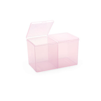 Контейнер двухсекционный прозрачно-розовый
