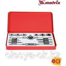 Набор метчиков и плашек М3-М10, 14 предметов. MATRIX. 77345