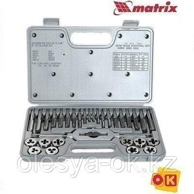 Набор метчиков и плашек М3-М12, 31 предмет. MATRIX. 77337