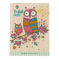 Бизнес-блокнот А6, 80 листов 'Розовые совы', твёрдая обложка, глиттер (комплект из 2 шт.)