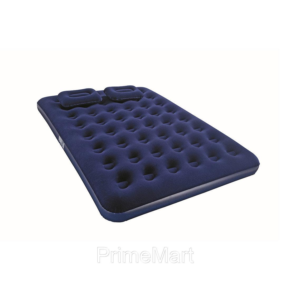 Матрас надувной Pavillo Aeroluxe Airbed (Queen) 203 х 152 х 22 см, BESTWAY, 67374, Винил, Насос 62002, 2 подушки, Флокированый верх, Синий, Цветная
