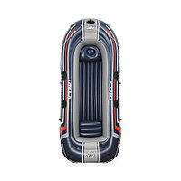 Лодка надувная Hydro-Force Treck X3 307 х 126 см, BESTWAY, 61066, Винил, Трёхкамерная, Грузоподъемность 270 кг., Синяя, Цветная коробка