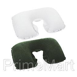 Подушка надувная под шею Flocked Air Neck Rest 37 х 24 х 10 см, BESTWAY, 67006, Флокированная поверхность, Цвет в ассортименте, Цветная коробка
