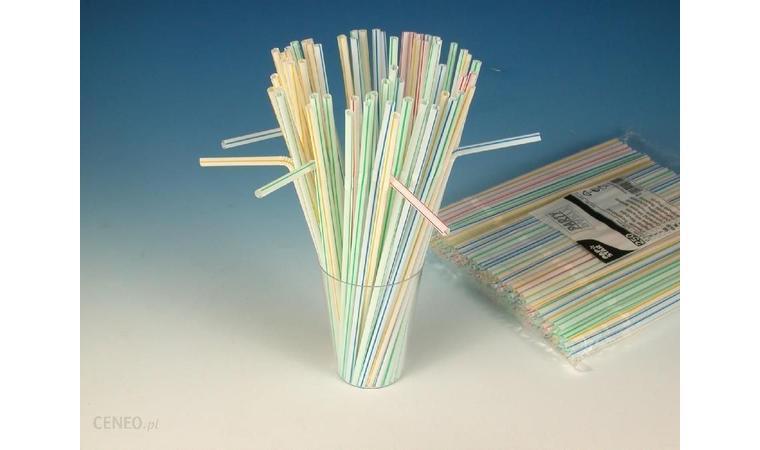 Трубочки белые с цветными полосками d0,5x24 см 250 шт./уп Ps