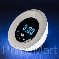 Deluxe, Светильник/ночник 4W, Часы-будильник, RGB подсветка, Сенсорное управление,USB, Eclipse