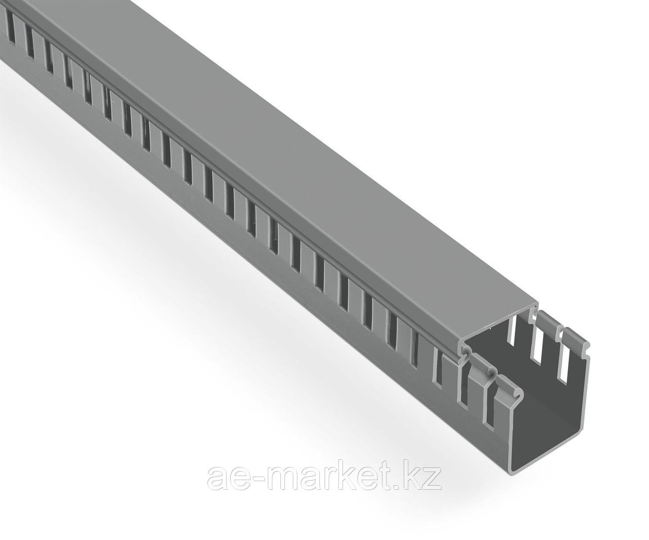 Перфорированый кабельный канал  40х40  (серый, 2м) Mutlusan