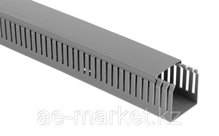 Перфорированый кабельный канал  60х60  (серый, 2м) Mutlusan