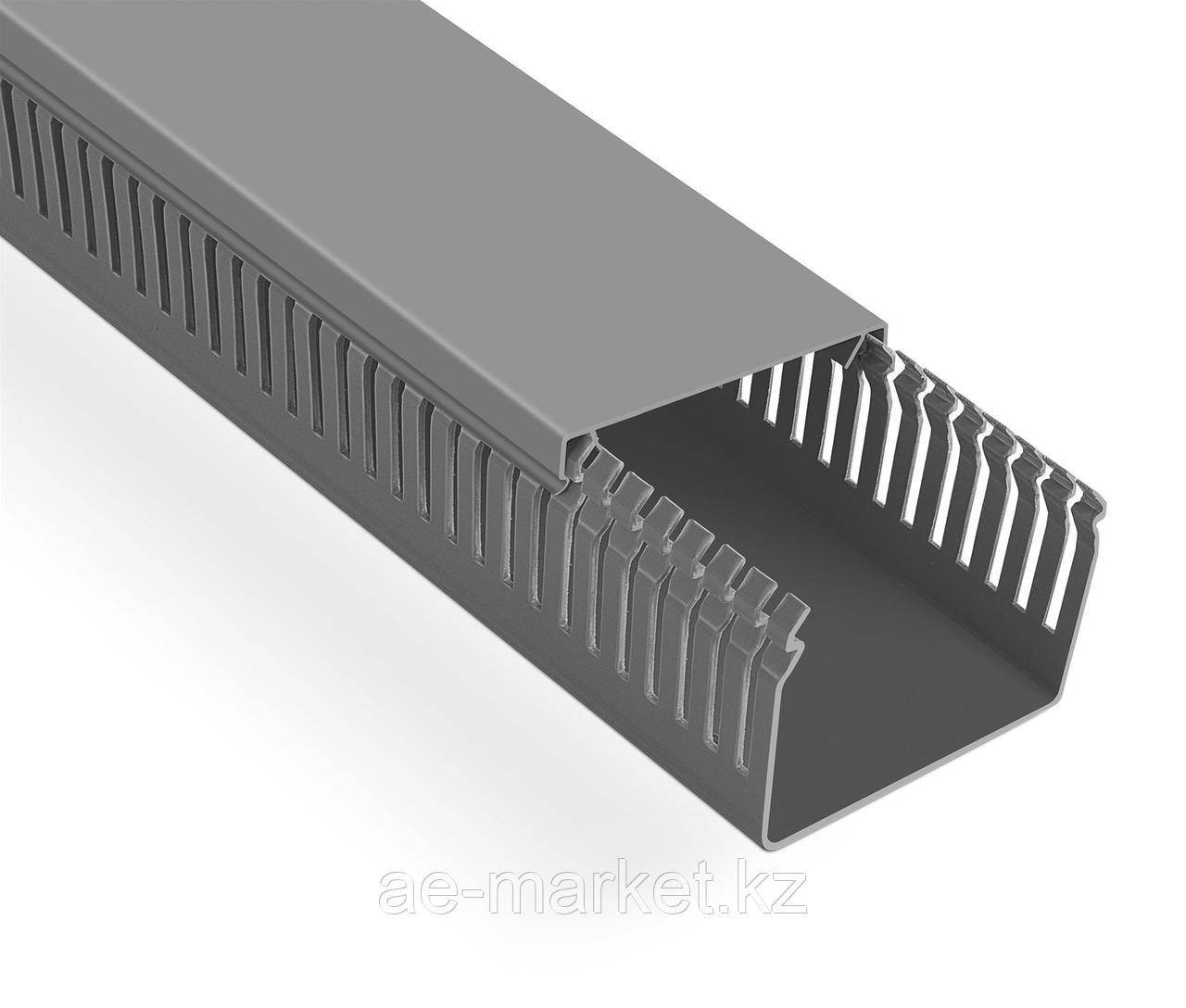 Перфорированый кабельный канал  80х60  (серый, 2м) Mutlusan