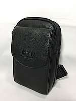 Мужская нагрудная сумка через плечо. Высота 23 см, ширина 15 см, глубина 5 см., фото 1