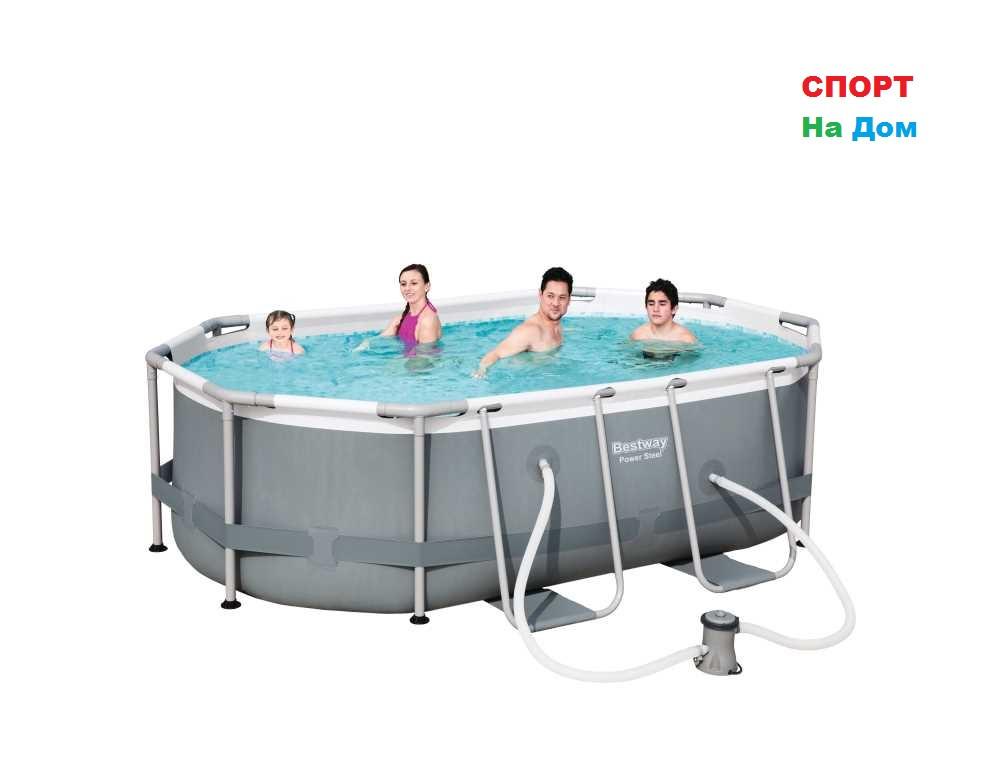 Овальный каркасный бассейн Bestwey 56617 (300*200*84 см, на 5700 литров)