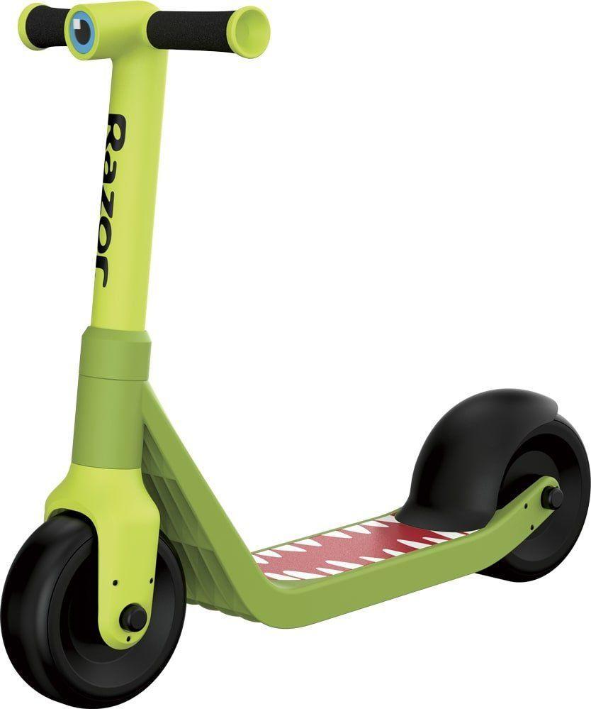 Устойчивый двухколёсный самокат для детей Wild Ones Зелёный синий розовый