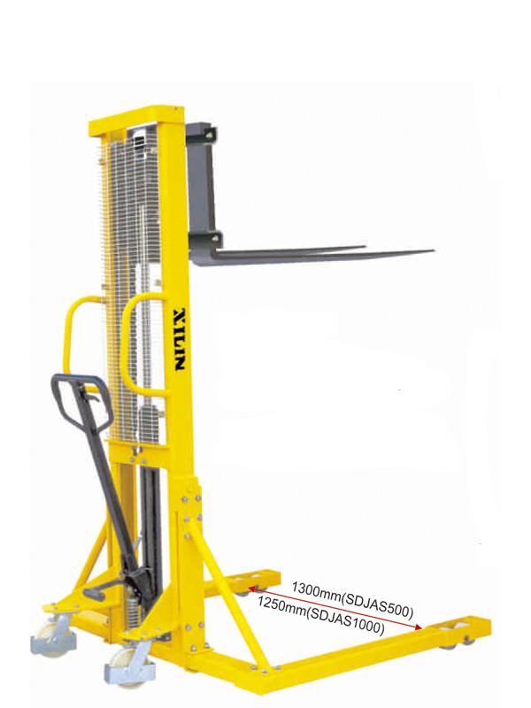 Штабелер ручной гидравлический с расширенными опорами XILIN г/п SDJAS1000