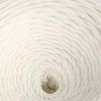 Пряжа трикотажная лицевая 100м/320±15гр, ширина нити 7-8 мм (Молочный)