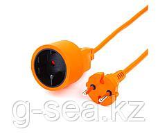 Удлинитель в бухте PowerCube 1 розетка,6А, 10м (оранж)