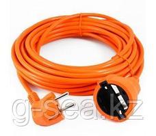 Удлинитель в бухте PowerCube 1 розетка с заземл.,6А, 10м(оранж)