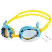 Очки для плавания 'Дельфин'  беруши, детские, цвет голубой
