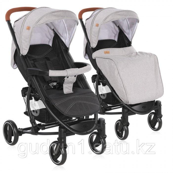 Прогулочная коляска Lorelli S-300 + накидка на ножки Серо-черный / Grey&Black CROS 2087