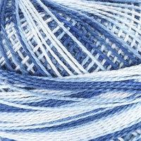 Пряжа 'Gamma Ирис меланж' 100 хлопок 82м/10гр (Р-08 синий-голубой) (комплект из 10 шт.)