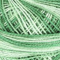 Пряжа 'Gamma Ирис меланж' 100 хлопок 82м/10гр (Р-11 зелёный-бл. Зелёный) (комплект из 10 шт.)