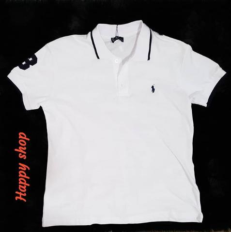 Белая футболка-поло