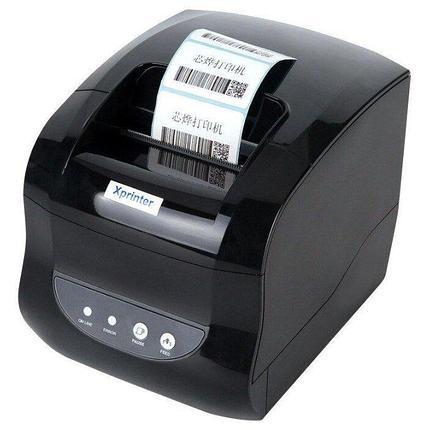 Термальный принтер этикеток Xprinter XP-365B, фото 2