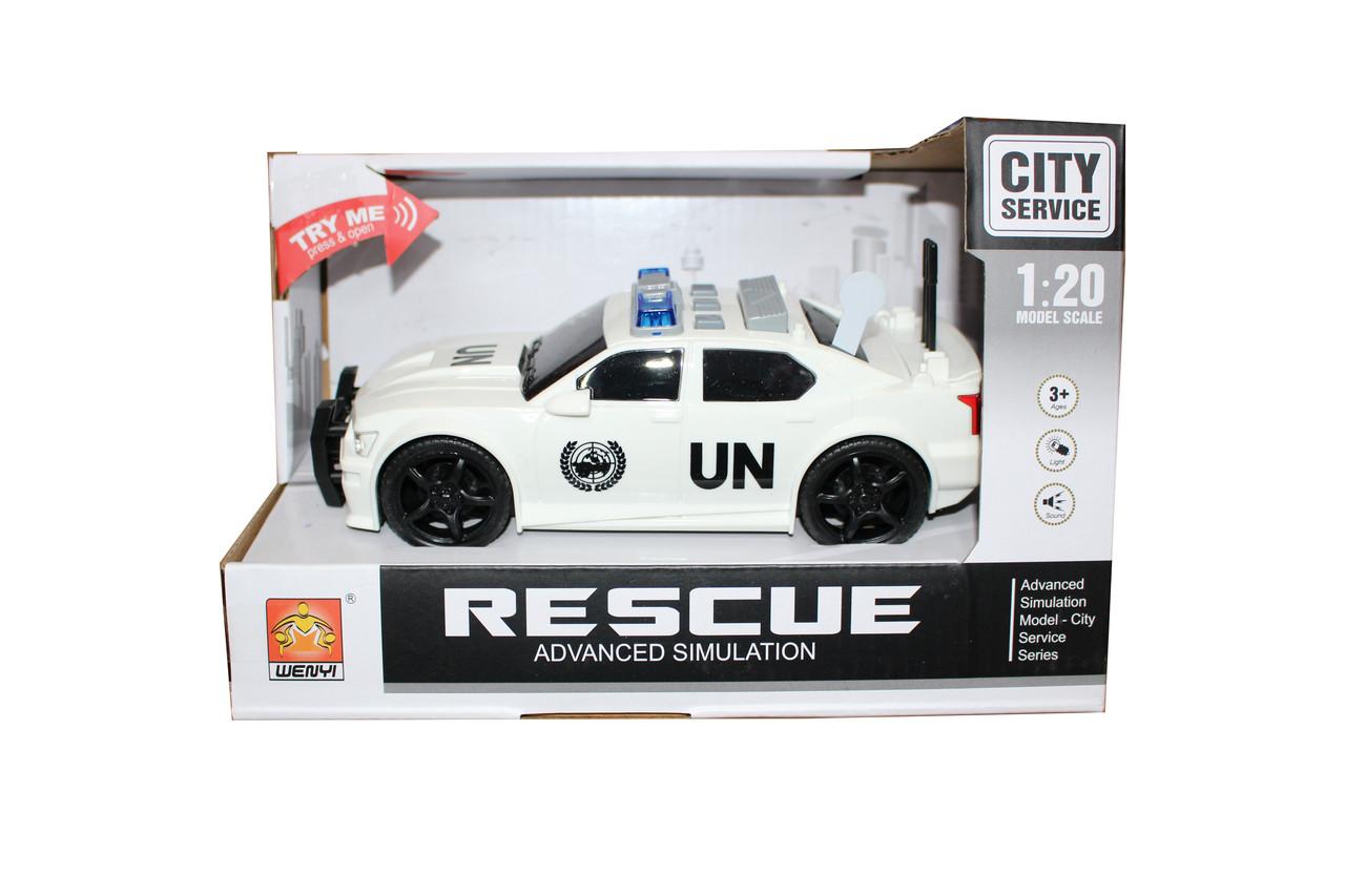 Полицейская машина в коробке WY500 АС
