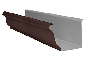 Желоб водосточный 86x120x3000 мм Коричневый Металлический прямоугольного сечения  ПЭ Ral 8017