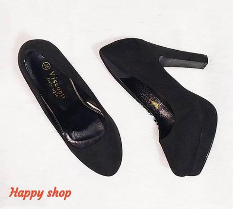 Женские туфли черные на широком каблуке 35-40 размер