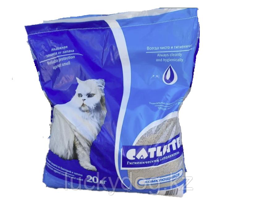 Комкующийся наполнитель для кошачьего туалета CatLitter. Вес 20 кг.