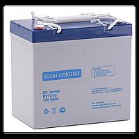 Тяговый аккумулятор Challenger EV12-55 (12В, 55Ач), фото 1