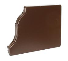 Заглушка желоба 120х86 правая Коричневый Металлический прямоугольного сечения  ПЭ Ral 8017