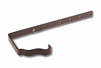 Держатель желоба длинный 86х120 Коричневый Металлический прямоугольного сечения  ПЭ Ral 8017