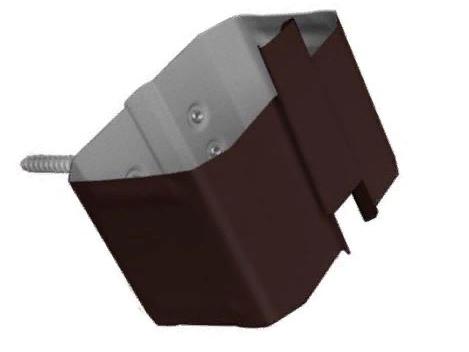 Держатель трубы 76х102 (на кирпич) Коричневый Металлический прямоугольного сечения  ПЭ Ral 8017
