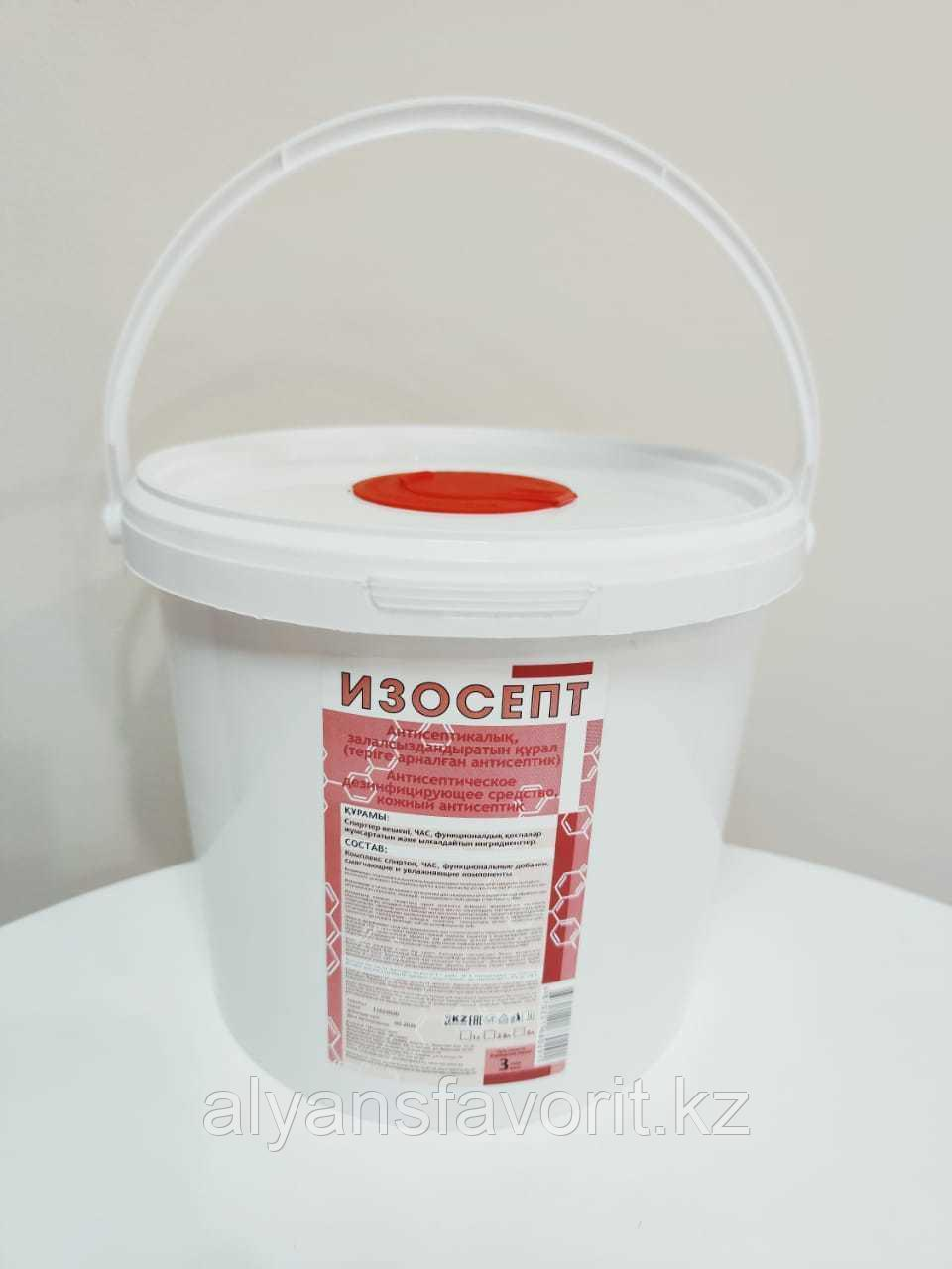 Диспенсерная система Изосепт 3,8 л, с салфетками 250 шт. РК