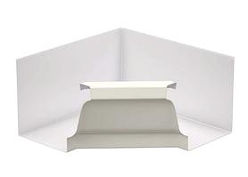 Угол желоба внутренний 90º Белый 120х86  Металлический прямоугольного сечения  ПЭ Ral 9003