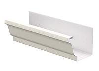 Желоб водосточный 86x120x3000 мм Белый Металлический прямоугольного сечения  ПЭ Ral 9003