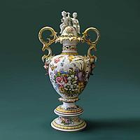 Напольная ваза Carpie Nove. Фарфоровая мануфактура Carpie Nove / Capodimonte