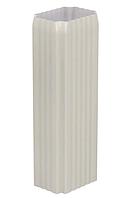 Труба водосточная 76x102x2000 мм Белый Металлический прямоугольного сечения  ПЭ Ral 9003