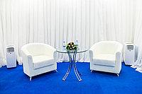 Аренда (прокат) стеклянного стола, тип 110